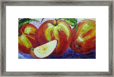 Three Apples Framed Print by Paris Wyatt Llanso