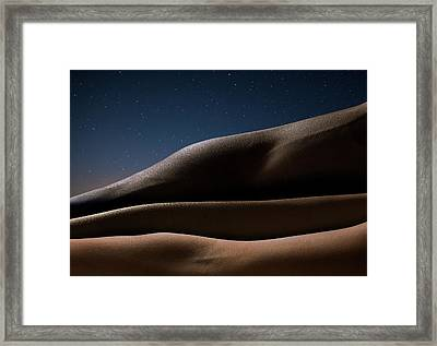 Three Arms Against Starry Night, Close Framed Print by Jonathan Knowles