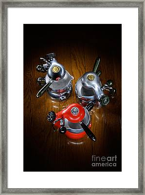 Three Atomics Framed Print