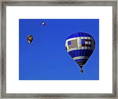 Three Balloons Framed Print by Andy Crawford