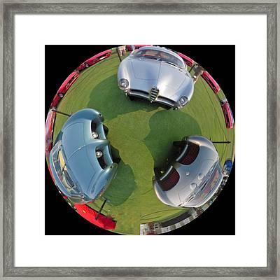 Three Batmobile Like Cars Framed Print