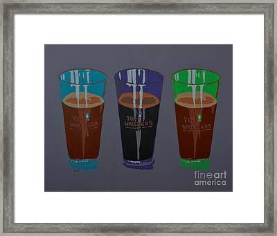 Three Beers Framed Print