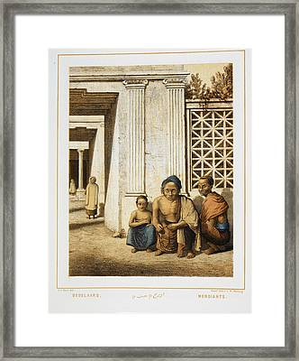 Three Beggars. Indonesian People Framed Print by British Library