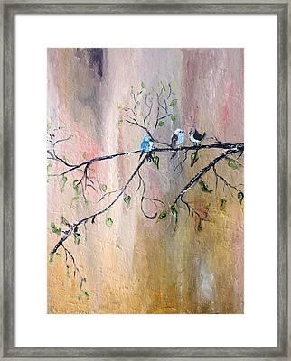 Three Birds Framed Print by Evelina Popilian
