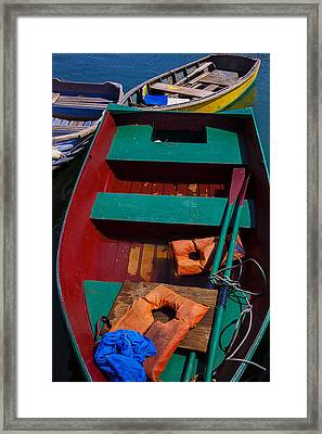 Three Boats Framed Print by Garry Gay