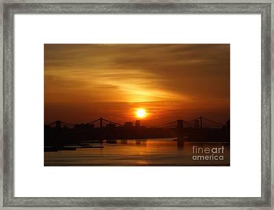 Three Bridges At Sunrise Framed Print