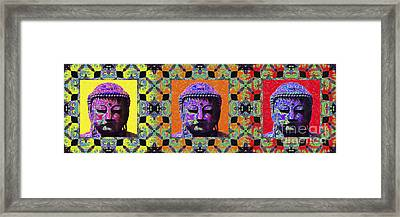 Three Buddhas 20130130 Framed Print by Wingsdomain Art and Photography