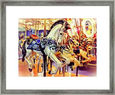 Three Carousel Ponies Framed Print