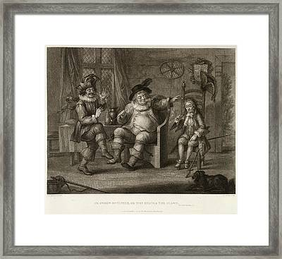 Three Characters Framed Print by British Library