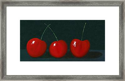 Three Cherries Framed Print by Karyn Robinson