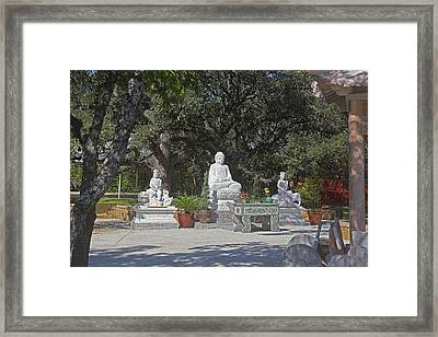 Three Chinese Statues Framed Print