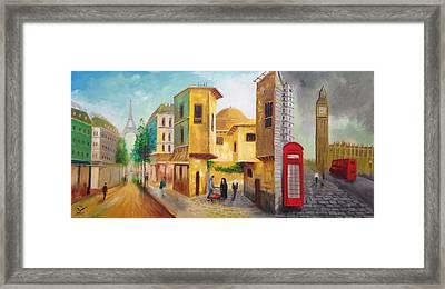 Three Cities Framed Print by Rami Besancon