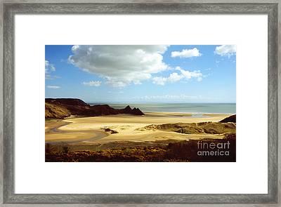 Three Cliffs Bay On The Gower Framed Print
