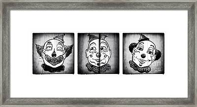 Three Clowns II Framed Print by John Rizzuto