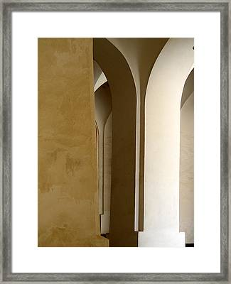 Three Columns Framed Print