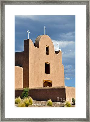 Framed Print featuring the photograph Three Crosses by Gina Savage