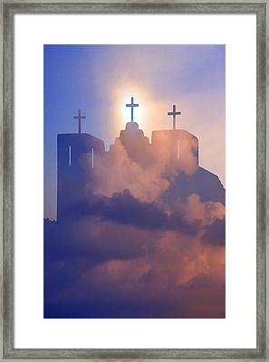 Three Crosses Framed Print by Jim Zuckerman