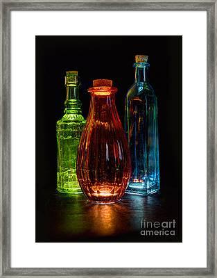 Framed Print featuring the photograph Three Decorative Bottles by ELDavis Photography
