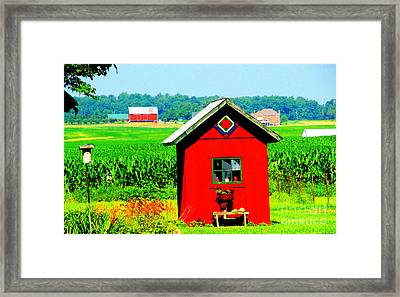 Three Delightful  Buildings Framed Print by Tina M Wenger