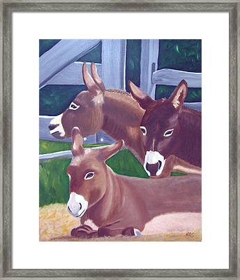 Three Donkeys Framed Print
