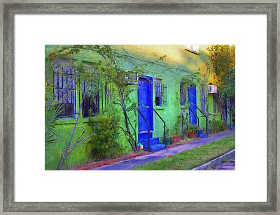 Three Doors Down  Framed Print by L Wright