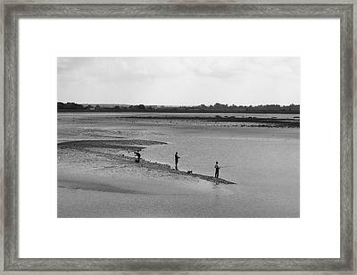 The Banks Of The Somme Framed Print by Aidan Moran