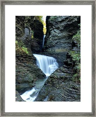 Three Falls In Watkins Glen Framed Print