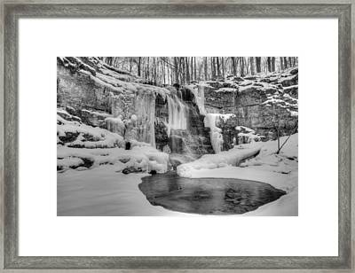 Three Falls Woods Framed Print by Chris Babcock