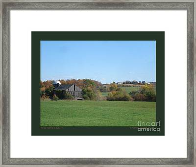 Three Farms In Autumn Framed Print