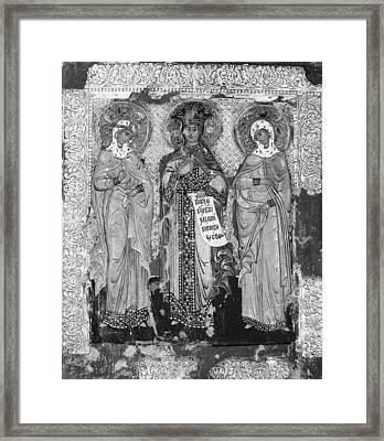 Three Female Saints Framed Print