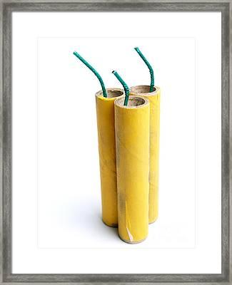 Three Firecrackers Framed Print by Sinisa Botas