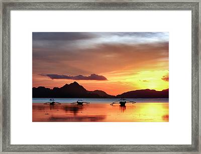 Three Fishermen Framed Print by John Swartz