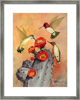 Three For Breakfast Framed Print