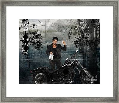Three For The Road Framed Print by Bedros Awak