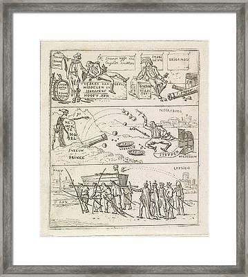 Three French Defeats, Hermanus Fock Framed Print