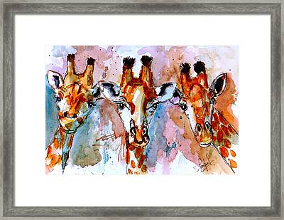 Three Friends Framed Print