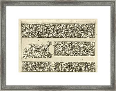 Three Friezes With Leaf Tendrils, Anthonie De Winter Framed Print by Anthonie De Winter And C. De Moelder