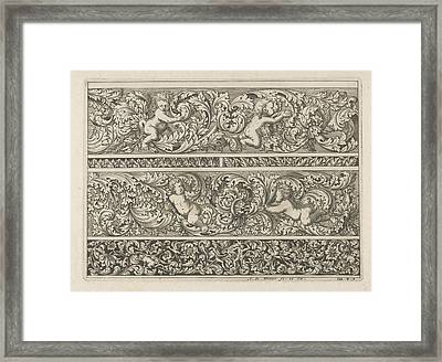 Three Friezes With Leaf Tendrils, Anthonie De Winter Framed Print by Anthonie De Winter
