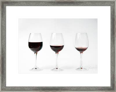 Three Glasses Of Wine  Framed Print