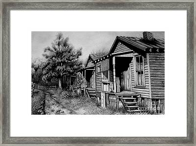 Three Graces Black And White Framed Print by David Neace