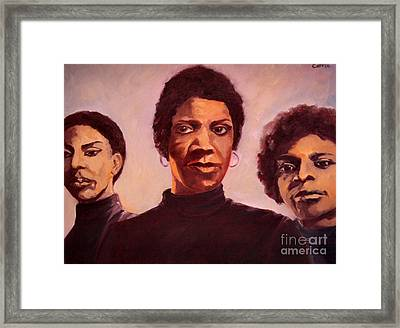 Three Graces One Framed Print by Carrie Joy Byrnes