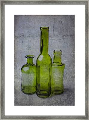 Three Green Bottles Framed Print