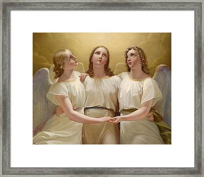 Three Guardian Angel Framed Print