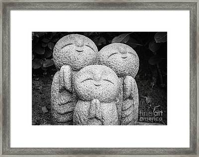 Three Happy Buddhas II Framed Print