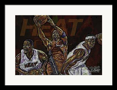 Dwayne Wade Framed Prints