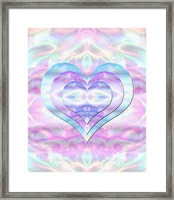 Three Hearts As One Framed Print