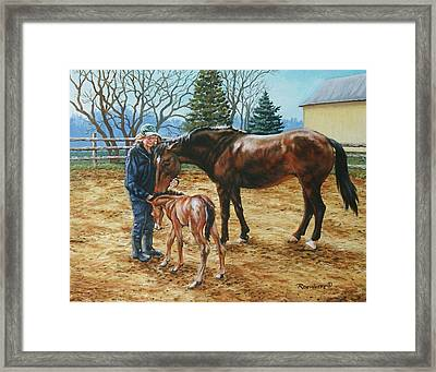 Three Hearts Framed Print by Richard De Wolfe