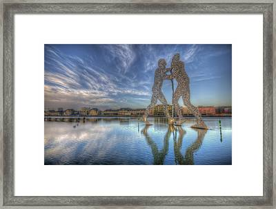 Three Holey Men Framed Print by Nathan Wright