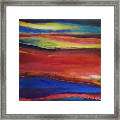 Three Horizons Sold Prints Available Framed Print by Therese Fowler-Bailey