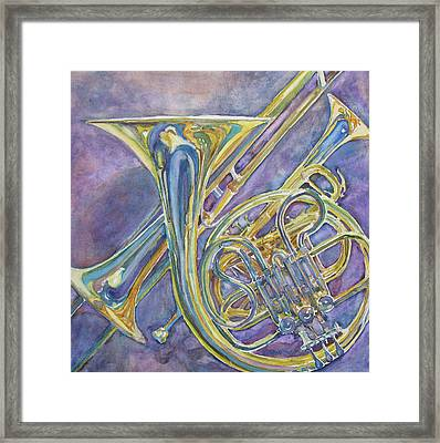 Three Horns Framed Print